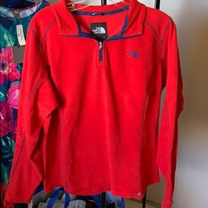 North Face polar fleece red
